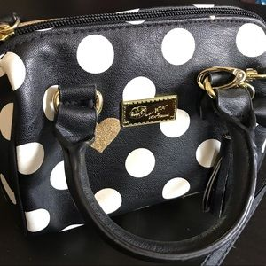 """""""Luv Betsey"""" polka dot purse in perfect condition"""